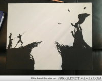 """Memes, Death, and Hitler: Hitler hated this site too  MUGGLENET MEMES.COM <p>Painted the scene where the brothers meet death. Thought I would share. Enjoy! <a href=""""http://ift.tt/1rICrqu"""">http://ift.tt/1rICrqu</a></p>"""