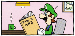 Hitler, World, and World War 2: Hitler & Italian man learns of the Nazi parties horrific deeds after the end of World War 2 (1945 colorised)