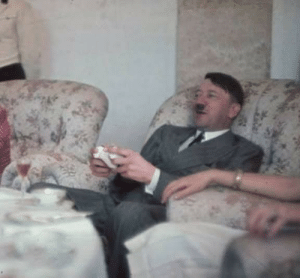 Hitler playing Medal of Honor Allied Assault on Xbox in 1942.He could not pass the Stalingrad mission and shortly after that he decided to invade Russia to prove to the German people that the game had a bad bug.: Hitler playing Medal of Honor Allied Assault on Xbox in 1942.He could not pass the Stalingrad mission and shortly after that he decided to invade Russia to prove to the German people that the game had a bad bug.