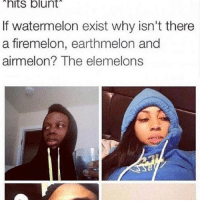 CnC: hits blunt  If watermelon exist why isn't there  a firemelon, earthmelon and  airmelon? The elemelons CnC