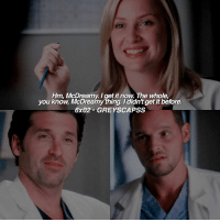greysanatomy | alex is me: Hm. McDreamy get itnow. The whole.  you know. McDreamy thing. didn'tgetit before.  6x02 GREYSCAPSS greysanatomy | alex is me