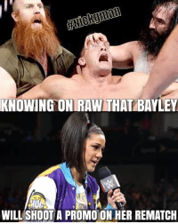 Lol, Meme, and Memes: HNICKgman  KNOWING ONRAW THAT BAYLEY  UGI  URI  WILL SHOOT A PROMO ON HER REMATCH Oh no not again! Same old shit! 😂If you take our memes please credit us Nickgman and DeathKalel from Our memes @wweworldwide78 DeathKalel meme wwememes wweworldwide wweRaw wwememe wwe DeathKalelmemes wwelol wwevine Nickgman meme wwesmackdown wwenetwork hilarious wwe2k15 lol funnymemes wrestlingmemes funnymeme wwf toofunny roman wwemondaynightraw huglife bayley