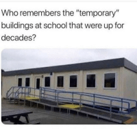 Memes, School, and Cold: ho remembers the temporary  buildings at school that were up for  decades? Its always either too hot or too cold in there via /r/memes https://ift.tt/2PrT7pc