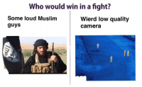 "Isis, Memes, and Muslim: ho would win in a fight?  Some loud Muslim  guys  Wierd low quality  camera <p>ISIS Memes on the rise! Buy! Buy! Buy! via /r/MemeEconomy <a href=""http://ift.tt/2nR35Dt"">http://ift.tt/2nR35Dt</a></p>"