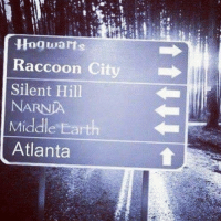 Earth, Raccoon, and Silent Hill: Hog warts  Raccoon City  Silent Hill  NARNIA  Middle Earth  Atlanta ¿Dónde irías? 🧐 Cabroworld
