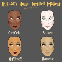 Which house are you? (From @andreaghickey): Hogwarts House-Inspired Makeup  ANDREA HICKEY BU20FEED  Slytherin  Gryffindor  Ravenclaw  Hufflepuff Which house are you? (From @andreaghickey)