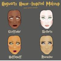 Which one are you? (From Andrea Hickey: https://www.facebook.com/andreahickeyart/): Hogwarts House-Inspired Makeup  ANDREA HICKEY/BullFEED  Slytherin  Gryffindor  Ravenclaw  Hufflepuff Which one are you? (From Andrea Hickey: https://www.facebook.com/andreahickeyart/)