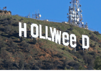 """Los Angeles residents awoke New Year's Day to find a prankster had altered the famed Hollywood sign to read """"HOLLYWeeD."""" California voters in November approved Proposition 64, which legalized the recreational use of marijuana, beginning in 2018. For more on this story, visit FoxNews.com (AP Photo-Damian Dovarganes): HOLLWee D  HOLIYee D Los Angeles residents awoke New Year's Day to find a prankster had altered the famed Hollywood sign to read """"HOLLYWeeD."""" California voters in November approved Proposition 64, which legalized the recreational use of marijuana, beginning in 2018. For more on this story, visit FoxNews.com (AP Photo-Damian Dovarganes)"""