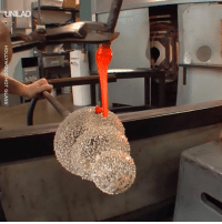 Dank, Watch, and 🤖: HOLLYWOOD HOT GLASS I could watch glass blowing all day 😍🔥