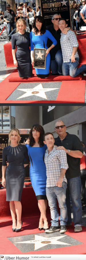 failnation:  They still look like a family: HOLLyWOOD  WALK OF FAME  HOLLYWO  KATEY SAGAL  но  OM  KATE  Uber Humor  I'm afraid I just blue myself. failnation:  They still look like a family