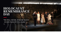 "Holocaust, Evil, and Never: HOLOCAUST  REMEMBRANCE  DAY  yi  ""WE WILL NEVER, EVER BE SILENT  IN THE FACE OF EVIL AGAIN."" On Yom HaShoah we remember the six million Jews slaughtered in the Holocaust. With each passing year, our duty to remember this atrocity increases as we pledge NEVER AGAIN. https://bit.ly/2HfcBx0"