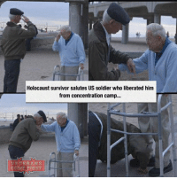 Memes, Patriotic, and Soldiers: Holocaust survivor salutes US soldier who liberated him  from concentration camp...  VETERANS  COME FIRST Such a powerful picture! That's the way our veterans should be treated! I wish our government could realize it! veteranscomefirst veterans_us Veterans Usveterans veteransUSA SupportVeterans Politics USA America Patriots Gratitude HonorVets thankvets supportourtroops semperfi USMC USCG USAF Navy Army military godblessourmilitary soldier holdthegovernmentaccountable RememberEveryoneDeployed Usflag StarsandStripes