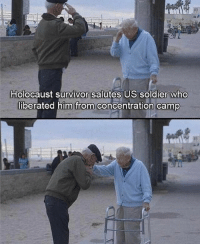 Friends, Memes, and Respect: Holocaust survivor salutes US soldier who  liberated him from concentration camp Respect 🇺🇸 - - ❎ DOUBLE TAP pic 🚹 TAG your friends - - - ArmyStrong Sailor Marine Veterans Military Brotherhood Marines Navy AirForce CoastGuard UnitedStates USArmy Soldier NavySEALs airborne socialmedia - operator troops tactical Navylife patriot USMC Veteran -