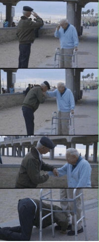 Memes, Soldiers, and Survivor: Holocaust survivor salutes US Soldier who liberated him from nazi concentration camp in WW2