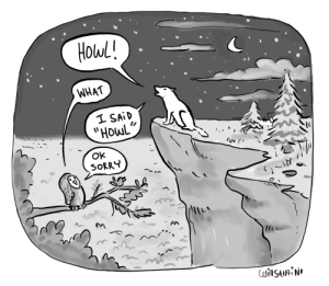 "Sorry, Name, and What: Holwl!  WHAT  1 SAİD  ""HowL  Ok  SORRY [OC] When someone says something that sounds like your name"