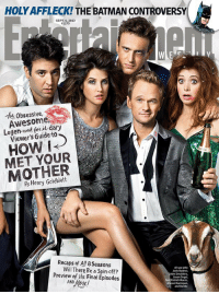HOW CAN ONE NOT LOVE THIS CAST https://t.co/4wHNl8FWhk: HOLY AFFLECK! THE BATMAN CONTROVERSY  SEPT. 6, 2013  #1275  Thu Obsessive,  Awesome  Legen-wait for it dary  Viewer's Guide to  HOW i  MET YOUR  MOTHER  Henry Goldblatt  Recaps ef All 8 Seasons  Will There Be a Spin-off  (From lefto  Josh Radnor,  obie Smulders,  Jason Seget  Patrick Horris,  Alyson Hannigan,  and Bambi  Preview ef ihe Final Episodes HOW CAN ONE NOT LOVE THIS CAST https://t.co/4wHNl8FWhk