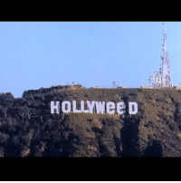 The Hollywood sign was vandalized and made to pay homage to a new California law making recreational marijuana legal. hollywood weed california tmz: HOLYWee D The Hollywood sign was vandalized and made to pay homage to a new California law making recreational marijuana legal. hollywood weed california tmz
