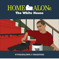 Home Alone, Memes, and White House: HOME ALONe  The White House  ROOFING  TAR  @THIS JENLEWIS @BUZZFEED Obama's last stand (From @thisjenlewis)