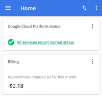 Google Cloud being a meme as usual: Home  Google Cloud Platform status  All  services report normal status  Billing  Approximate charges so far this month  $0.18 Google Cloud being a meme as usual