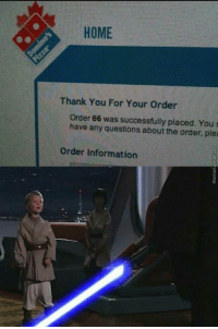 Snapchat, Thank You, and Home: HOME  Thank You For Your Order  Order 66 was successfully placed. You s  have any questions about the order, plea  Order Information Follow me on snapchat : SupremeBootyGod   Snap me pics of government secrets.