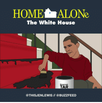 Memes, White House, and Buzzfeed: HOMELALONe  The White House  ROOFING  TAR  @THIS JENLEWIS @BUZZFEED Obama's last stand (From Jen Lewis: https://www.facebook.com/thisjenlewis)