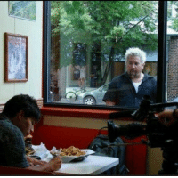 Food, Homeless, and Stock Market: Homeless man after the Stock Market crash of 1929 longingly looks at a strangers food (1930; Colorized) https://t.co/DqtUJ2nyTm