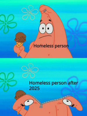 Homeless Person: Homeless person  Homeless person after  2025