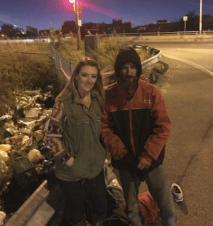 Homeless, Back, and Him: Homeless Veteran Gave This Woman His Last $20 For Gas, So She Raised $380,000 to Pay Him Back
