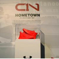 """Cam Newton, Memes, and Dirty: HOMETOWN  ATL ROOTS MEET REP  ATL born. This colorway is a salute to Cam's Atlanta Roots  The new C1N Hometown colorway mashes up the grit and glory  of the city that made Cam Newton with the bold red and gold  the Dirty South is famous for  Ava @cameron1newton unveils the new @underarmour C1N """"Hometown"""" launching next Thursday in men's and kids!"""