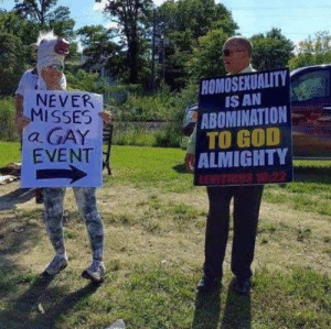 God, Homosexuality, and Never: HOMOSEXUALITY  NEVER  MISSES  a GAY  EVENT  IS AN  ABOMINATION  ALMIGHTY  TO GOD Fatal put-down.