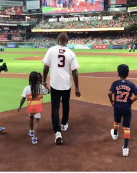 Honda, Sports, and Astros: HONDA  CHEVROL  SILVERAD  CP  27 CP3 throws out the first pitch at the Astros game 🚀(via @houstonrockets)