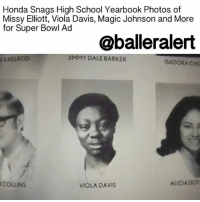 "Baller Alert, Honda, and Magic Johnson: Honda Snags High School Yearbook Photos of  Missy Elliott, Viola Davis, Magic Johnson and More  for Super Bowl Ad  @baller alert  JIMMY DALE BARKER  AXELROD  ISADORA CHE  ALICIA DOT  COLLINS  VIOLA DAVIS Honda Snags High School Yearbook Photos of Missy Elliot, Magic Johnson, Tina Fey and More for Super Bowl Ad - blogged by @MsJennyb ⠀⠀⠀⠀⠀⠀⠀ ⠀⠀⠀⠀⠀⠀⠀ The Super Bowl is only three days away. Therefore, all of the big-name companies are preparing to broadcast their best commercials live in between the big game. ⠀⠀⠀⠀⠀⠀⠀ ⠀⠀⠀⠀⠀⠀⠀ Luckily, in light of ThrowbackThursday, Honda has provided a first look at their new ad. ⠀⠀⠀⠀⠀⠀⠀ ⠀⠀⠀⠀⠀⠀⠀ This year, the manufacturer pulled together the high school yearbook photos of a few of our favorite celebrities and brought them to life. The commercial features the real photos of TinaFey, JimmyKimmel, MagicJohnson, MissyElliott, ViolaDavis and more. ⠀⠀⠀⠀⠀⠀⠀ ⠀⠀⠀⠀⠀⠀⠀ In the ad, nine celebrities emerge from the pages of their yearbooks, as part of Honda's ""Power of Dreams"" campaign, to promote the company's 2017 Honda CR-V. ""We are hoping that a lot of people jump on that bandwagon and post their own yearbook photos to king of help us get the message out,"" the assistant VP for Honda auto marketing said. ⠀⠀⠀⠀⠀⠀⠀ ⠀⠀⠀⠀⠀⠀⠀ ""There were a few ideas we were looking at, and there was a long discussion about what was right and would hit on the car, hit on the brand, hit on the emotion we wanted,"" RPA Executive Creative Director Jason Sperling said of the ad, which focused on the theme of ""always chase your dream and never give up."" ⠀⠀⠀⠀⠀⠀⠀ ⠀⠀⠀⠀⠀⠀⠀ ""At the end of the day, you don't want to be in the Super Bowl if you don't have something that feels brave and is going to stand out,"" Sperling said. ⠀⠀⠀⠀⠀⠀⠀ ⠀⠀⠀⠀⠀⠀⠀ According to reports, Honda plans to continue the campaign, even after the game."