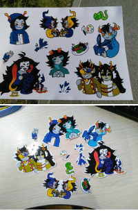 "Target, Tumblr, and Blog: honespy:  O o o o f  N I C E  I finally print my really old stickers, that i drew in december for ""new year"", but never post here.  OwO Im so happy!!! This photos is suck, but i like it anyway :3"