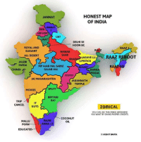 Honest Map Of India 😀: HONEST MAP  JANNAT  OF INDIA  JANNAT  DES  IP-HOP  UK?  JAAT  DELHI SEE  HOON BC  ROYAL AND  RAAZ  ELEGANT  NAWAB  SAAB  LAGAVELU  RAAZ BOOT  ALL DESERT  BHAI  LIPISTICK  JALEBI  FAFDA  MP AUAB HAI, SABSE  BIHAR?  GAJAB HAI  CHINDI E  DURGA  OOJA  JAI MAHARASHTRA  JAGANNATH  TEMPLE  SPLIT?  MOVIES  BIRYANI  A  RA?  TRIP  CANCEL  GUYS  ZOMICAL  YOU CAN USE THIS IMAGE ANYWHERE  YOU WANT BY GIVING PROPER CREDITS.  COCONUT  RAJNI  MALLU  OIL  POR  ANNA <3  EDUCATED  AKSHIT BANTA. Honest Map Of India 😀