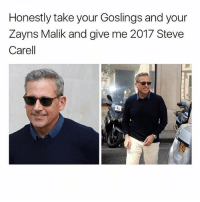 Definitely, Memes, and Steve Carell: Honestly take your Goslings and your  Zayns Malik and give me 2017 Steve  Carell OK DAMN STEVE WITH THE SALT AND PEPPER COULD DEFINITELY GET IT (And I'm not even gay) (tw: @gilkeascharged)