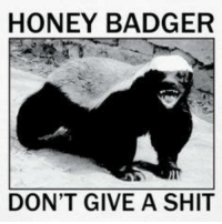 HONEY BADGER  DON'T GIVE A SHIT *BOOYAH*