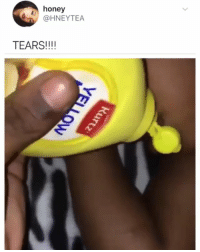 Food, Memes, and Help: honey  @HNEYTEA  TEARS!!!! Frogs can't swallow without blinking because they use their eyes to help push food into their stomachs 🐸