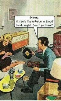 Memes, Slayer, and 🤖: Honey,  it feels like a Reign in Blood  kinda night. Don't ya think? It's always a Slayer kinda night.