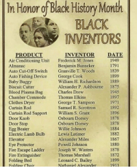 Honor Of Black History Month Black Inventors Date Inventor