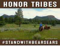 Bears Ears has been home to Hopi, Navajo, Ute Indian Tribe, Ute Mountain Ute, and Zuni for countless generations. We were grateful when, in December 2016, President Obama protected the region for Native Americans and for all who love this remarkable place. But today, the landscape is threatened by Utah politicians who wish to reverse or diminish the historically important Bears Ears National Monument.  #StandWithBearsEars! Click here to take action: bit.ly/2kTN2Gv: HONOR TRIBES  Photo by Utah Dine Bikeyah  STAND WITH BE A RSE A R S Bears Ears has been home to Hopi, Navajo, Ute Indian Tribe, Ute Mountain Ute, and Zuni for countless generations. We were grateful when, in December 2016, President Obama protected the region for Native Americans and for all who love this remarkable place. But today, the landscape is threatened by Utah politicians who wish to reverse or diminish the historically important Bears Ears National Monument.  #StandWithBearsEars! Click here to take action: bit.ly/2kTN2Gv