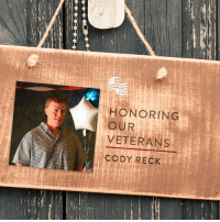 America, Beautiful, and Blessed: HONORING  VETERANS  CODY RECK Thank you to Rita Reck for submitting Cody Reck to be featured in Secure America Now's veteran recognition program: Home of the Free - Because of the Brave.  Rita writes that her son Cody is an Army Reservist. He has served in Afghanistan and Saudi Arabia. He has a beautiful wife and son. Cody is a true Patriot. He was born an Air Force son and grew up loving America and serving his country. He is a former Cadet Commander for the local Civil Air Patrol unit and received the Mitchell Award. I am so proud of him and am blessed to be his mother.  Thank you Cody for your service to our country!