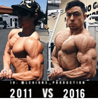 "Clothes, Facebook, and Gym: Hoon  MATT OGUS  I G  L E G I O N S  P R O D U C T I O N  2011 VS 2016 🔥😳MATT OGUS! Some call him the Half-Natty Prince. Thoughts? Founder 👉: @king_khieu. From 2011 to 2016. Thoughts? 🤔Opinions? What do you guys think? COMMENT BELOW! Athlete: @mattogus. TAG SOMEONE who needs to lift! _________________ Looking for unique gym clothes? Use our 10% discount code: LEGIONS10🔑for Ape Athletics (@apeathletics) 🦍 fitness apparel! The link is in our 👆 bio! _________________ Check out our principal account: @fitness_legions for the best fitness and nutrition information! Like✅ us on Facebook👉: ""Legions Production"" for a chance at having a shoutout. @legions_production🏆🏆🏆."
