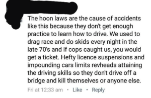 Hoons should be allowed to hoon so they can be better hoons..: Hoons should be allowed to hoon so they can be better hoons..