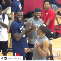 LeBron and Melo absolutely lose it after Russell Westbrook screws up a simple drill 😂: hoopmixtape LeBron and Melo absolutely lose it after Russell Westbrook screws up a simple drill 😂