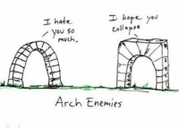 Best, Enemies, and Hope: hope you  collapse  hate .  You So  much  Arch Enemies  TC This is the best https://t.co/bPwriFHa6R