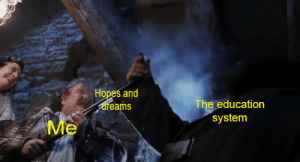 Rewatching Harry Potter so expect a bunch Harry Potter memes: Hopes.and  areams  The education  system  Me Rewatching Harry Potter so expect a bunch Harry Potter memes
