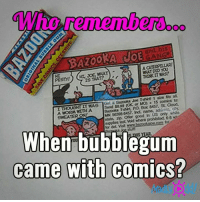 Memes, 🤖, and Caterpillar: horementera,  BAZOOKA JOE  A CATERPILLAR!  IS THAT?  STYI  A  SWEATER ONE  When bubblegum  came with comics? #Rememberthis?  ms
