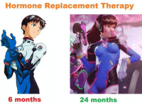 Game theory: D-Va is transgender.  (about the missing bulge: hormone replacement therapy makes it very small over time): Hormone Replacement Therapy  6 months  24 months Game theory: D-Va is transgender.  (about the missing bulge: hormone replacement therapy makes it very small over time)