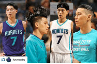 @hornets share all of Jeremy Lin's hairstyles this season. 💀😂: HORNETS  ta HORNETS  hornets  HORNETS  HARLOTTE  SKETBALL @hornets share all of Jeremy Lin's hairstyles this season. 💀😂