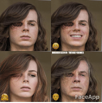 1.Coral 2.Happy Coral 3. Coral lookin like Lawray 4. Old Coral thewalkingdead: HORRORVIXEN101 TERICKYGRIMES  Face App 1.Coral 2.Happy Coral 3. Coral lookin like Lawray 4. Old Coral thewalkingdead